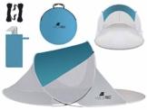 MT MALATEC Strandmuschel Pop Up UV Schutz Wurfzelt leicht Sonnenzelt 10178, Größe:220x120x90 cm - 1
