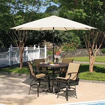 MVPower Sonnenschirm, 2,7m Sonnenschirm UV-Schutz UPF 50+, Marktschirm mit 8 Stahlverstrebungen und Kurbel, Gartenschirm Terrassenschirm rund regendicht Outdoor, für Garten, Balkon, Terrasse, 180 g/m² - 7