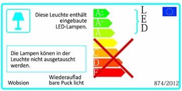 Nachtlicht mit Bewegungsmelder, USB Wiederaufladbar LED Bewegungssensor Licht Schrankbeleuchtung, Batterie Powered Licht mit Bewegungsmelder Für Flur,Schlafzimmer,Schrank,Kabinett Warmweiß 3 Stück - 7