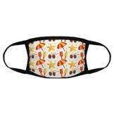 Nahtlose Sonnenbrille, Strandschirm-Design, Gesichtsabdeckung, wiederverwendbar, für Kinder, dekorativer Mundschutz, waschbarer Schutz - 1