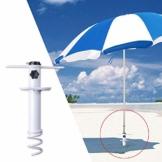NAKELUCY Strandschirm Sandanker, winddichter tragbarer Strand Sandschirm Anker Dachschirm Basishalter, Hochleistungs-Sonnenschirm Anker Pfahl Einheitsgröße Für alle sicher für starken Wind - 1
