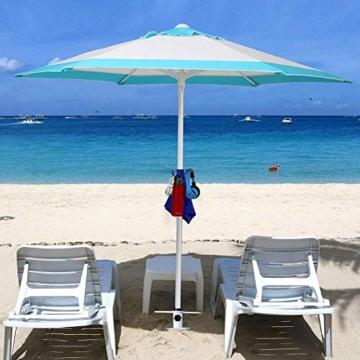 NAKELUCY Strandschirm Sandanker, winddichter tragbarer Strand Sandschirm Anker Dachschirm Basishalter, Hochleistungs-Sonnenschirm Anker Pfahl Einheitsgröße Für alle sicher für starken Wind - 3