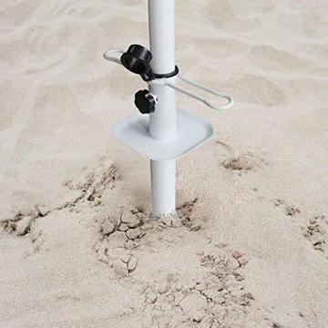 NAKELUCY Strandschirm Sandanker, winddichter tragbarer Strand Sandschirm Anker Dachschirm Basishalter, Hochleistungs-Sonnenschirm Anker Pfahl Einheitsgröße Für alle sicher für starken Wind - 6