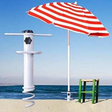 NAKELUCY Strandschirm Sandanker, winddichter tragbarer Strand Sandschirm Anker Dachschirm Basishalter, Hochleistungs-Sonnenschirm Anker Pfahl Einheitsgröße Für alle sicher für starken Wind - 7