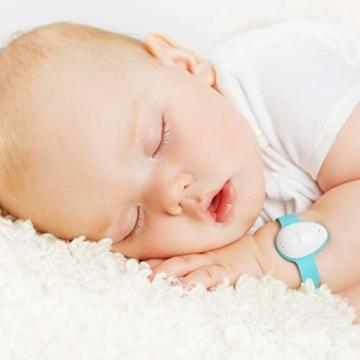 Neebo Sensor-Armband zur Atmungsüberwachung bei Babys & Kindern | misst Herzfrequenz, Sauerstoffsättigung, Temperatur & Schlafdauer | per Bluetooth auf iOS App (Powered by Telekom) - 5