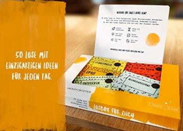 NEU: Losbox für Frau oder Mann | Als Geschenk zum Geburtstag, Mitbringsel oder Dankeschön | 50 Lose mit Ideen für Spiel, Spaß & Entspannung | Die Geschenkidee für Partner, Freund, Freundin & Kollegen - 4