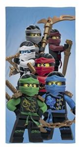 Ninjago Lego Strandtuch Velourstuch 70 x 140cm Duschtuch Badetuch Handtuch 100% Baumwolle Lloyd Kai Zane Cole NYA Jay Assemble - 1
