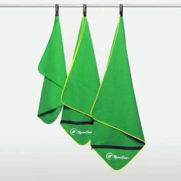 NirvanaShape ® Mikrofaser Handtücher | saugfähig, leicht, schnelltrocknend | Badehandtücher, Reisehandtücher, Sporthandtücher | Ideal für Reisen, Fitness, Yoga, Sauna - 4