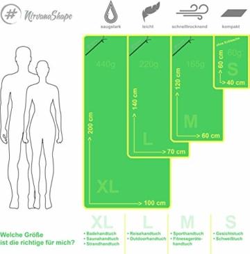 NirvanaShape ® Mikrofaser Handtücher | saugfähig, leicht, schnelltrocknend | Badehandtücher, Reisehandtücher, Sporthandtücher | Ideal für Reisen, Fitness, Yoga, Sauna - 6