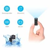 NIYPS wasserdichte Mini Kamera, Full HD 1080P Super Mini Cam, Tragbare Kleine Überwachungskamera mit Aufzeichnung, Kabellose Nanny Cam mit Bewegungserkennung und Infrarot Nachtsicht für Innen/Aussen - 1