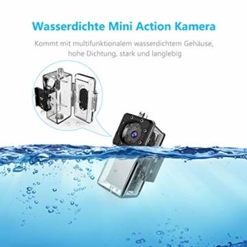 NIYPS wasserdichte Mini Kamera, Full HD 1080P Super Mini Cam, Tragbare Kleine Überwachungskamera mit Aufzeichnung, Kabellose Nanny Cam mit Bewegungserkennung und Infrarot Nachtsicht für Innen/Aussen - 3