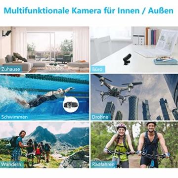 NIYPS wasserdichte Mini Kamera, Full HD 1080P Super Mini Cam, Tragbare Kleine Überwachungskamera mit Aufzeichnung, Kabellose Nanny Cam mit Bewegungserkennung und Infrarot Nachtsicht für Innen/Aussen - 5