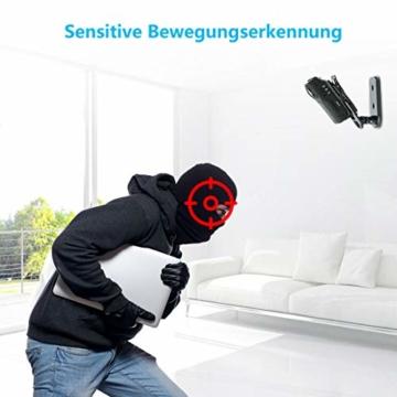 NIYPS wasserdichte Mini Kamera, Full HD 1080P Super Mini Cam, Tragbare Kleine Überwachungskamera mit Aufzeichnung, Kabellose Nanny Cam mit Bewegungserkennung und Infrarot Nachtsicht für Innen/Aussen - 7