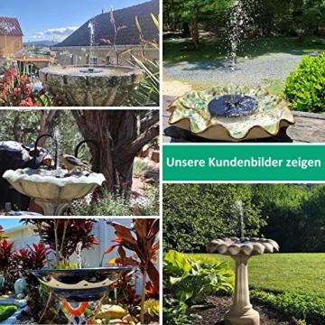 OMORC Solar Springbrunnen, Solarbrunnen 2W mit 4-in-1-Düse, Solar Teichpumpe Wasserpumpe Solarpumpe Solarbrunnen für den Garten, Kleiner Teich, Aquarium (2020 Upgrade) - 4