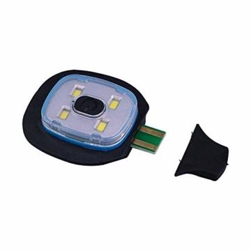 OMOUP 4 LED Stirnlampe Beanie Mütze, Winter warme Beanie Hut Hände frei beleuchtete Beanie Mütze mit (Schwarz) - 5