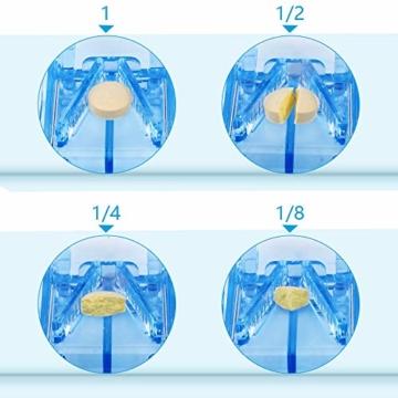 Opret Tablettenteiler für Große und Kleine Tabletten, Tablettenschneider mit Aufbewahrungsfach Blau - 4