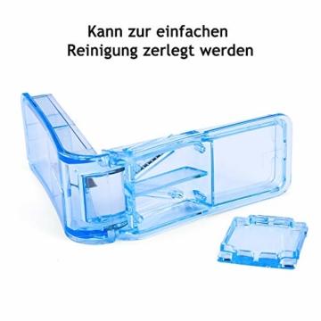 Opret Tablettenteiler für Große und Kleine Tabletten, Tablettenschneider mit Aufbewahrungsfach Blau - 5