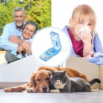 Opret Tablettenteiler für Große und Kleine Tabletten, Tablettenschneider mit Aufbewahrungsfach Blau - 7