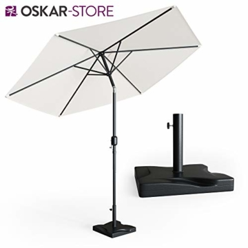 Oskar Sonnenschirmständer 20kg Schirmfuß Schirmhalter Schirmständer Beton Garten - 7