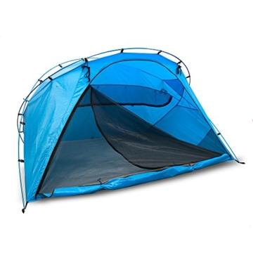 outdoorer große Strandmuschel zum Verschließen Santorin Family - UV 80 Sonnenschutz-Zelt mit Moskitonetz und Belüftung, XXL Strandzelt, leicht, Alugestänge, kleines Packmaß für Reisen - 1