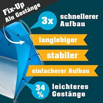 outdoorer große Strandmuschel zum Verschließen Santorin Family - UV 80 Sonnenschutz-Zelt mit Moskitonetz und Belüftung, XXL Strandzelt, leicht, Alugestänge, kleines Packmaß für Reisen - 6