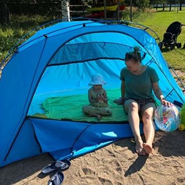 outdoorer große Strandmuschel zum Verschließen Santorin Family - UV 80 Sonnenschutz-Zelt mit Moskitonetz und Belüftung, XXL Strandzelt, leicht, Alugestänge, kleines Packmaß für Reisen - 8