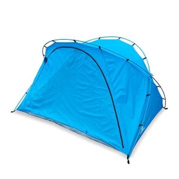 outdoorer große Strandmuschel zum Verschließen Santorin Family - UV 80 Sonnenschutz-Zelt mit Moskitonetz und Belüftung, XXL Strandzelt, leicht, Alugestänge, kleines Packmaß für Reisen - 9