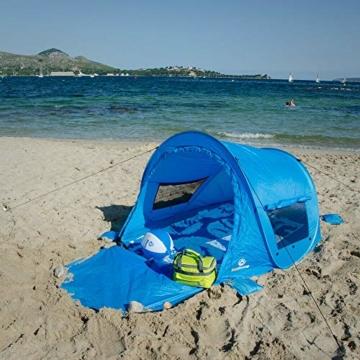 outdoorer Pop up Strandmuschel zum Verschließen Zack Premium Family - großes Strandzelt, verschließbar, UV Schutz 80, Sonnenschutz für den Strand - 2