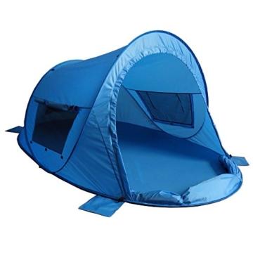 outdoorer Pop up Strandmuschel zum Verschließen Zack Premium Family - großes Strandzelt, verschließbar, UV Schutz 80, Sonnenschutz für den Strand - 1
