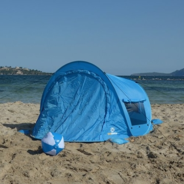 outdoorer Pop up Strandmuschel zum Verschließen Zack Premium Family - großes Strandzelt, verschließbar, UV Schutz 80, Sonnenschutz für den Strand - 6