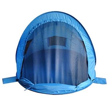outdoorer Pop up Strandmuschel zum Verschließen Zack Premium Family - großes Strandzelt, verschließbar, UV Schutz 80, Sonnenschutz für den Strand - 7