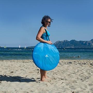 outdoorer Pop up Strandmuschel zum Verschließen Zack Premium Family - großes Strandzelt, verschließbar, UV Schutz 80, Sonnenschutz für den Strand - 8