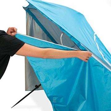 outdoorer Strandschirm Sombrello - Sonnenschirm mit UV Schutz 80, Wind- und Sonnenschutz, Strandmuschel Alternative (eckig, blau) - 2