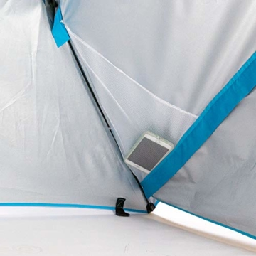 outdoorer Strandschirm Sombrello - Sonnenschirm mit UV Schutz 80, Wind- und Sonnenschutz, Strandmuschel Alternative (eckig, blau) - 3