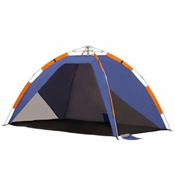 Outsunny Strandmuschel, Strandzelt, Pop up Campingzelt, Netzfenster, Tragetasche, 2-3 Personen, Fiberglas, 210 x 140 x 120 cm - 1