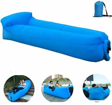 OXENDURE Aufblasbare Liege Luftsofa Hängematte - tragbar, wasserdicht Design-ideale Couch für Hinterhof Lakeside Beach Reisen Camping Picknicks & Musikfestivals - 1