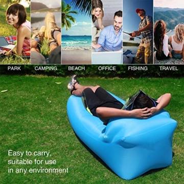 OXENDURE Aufblasbare Liege Luftsofa Hängematte - tragbar, wasserdicht Design-ideale Couch für Hinterhof Lakeside Beach Reisen Camping Picknicks & Musikfestivals - 5