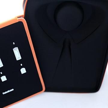 Packshi® Hemdentasche Knitterfreies Hemd Herren Hartschale Für Die Reise Hemden Transport Im Koffer Reisetasche Rucksack Kleidersack Mit Falthilfe Reise Geschenk für Männer Packshi Orange - 4