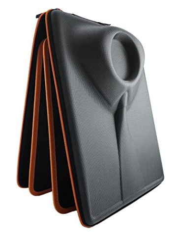 Packshi® Hemdentasche Knitterfreies Hemd Herren Hartschale Für Die Reise Hemden Transport Im Koffer Reisetasche Rucksack Kleidersack Mit Falthilfe Reise Geschenk für Männer Packshi Orange - 1