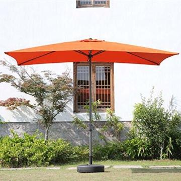 Parasol Rechteckiger Sonnenschirm 200 x 300 cm   Outdoor Sonnenschirm Regenschirm   Pole breite Ø 38 mm   Kurbelsystem CMXZ - 3