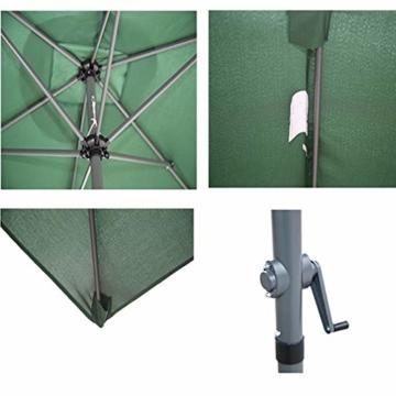 Parasol Rechteckiger Sonnenschirm 200 x 300 cm   Outdoor Sonnenschirm Regenschirm   Pole breite Ø 38 mm   Kurbelsystem CMXZ - 5