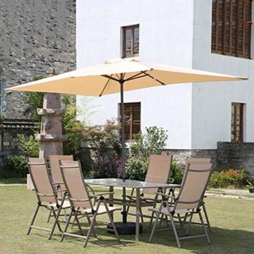 Parasol Rechteckiger Sonnenschirm 200 x 300 cm   Outdoor Sonnenschirm Regenschirm   Pole breite Ø 38 mm   Kurbelsystem CMXZ - 6