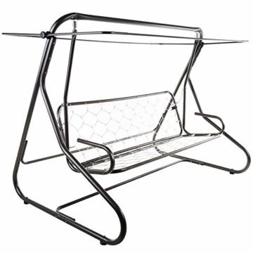 PATIO Hollywoodschaukel Gartenschaukel Milano 3-Sitzer klappbar Liegefunktion D001-12BB 170 cm (Baumwolle, grün) - 2