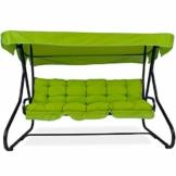 PATIO Hollywoodschaukel Gartenschaukel Milano 3-Sitzer klappbar Liegefunktion D001-12BB 170 cm (Baumwolle, grün) - 1