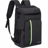 PengDa 30L Kühl Rucksack Kühltasche - Groß Isoliert Kühlrucksack Wasserdichten Ultraleicht Rucksäcke Damen Herren Cooler Bag für Camping, BBQ, Wandern, Picknick (Schwarz) - 1