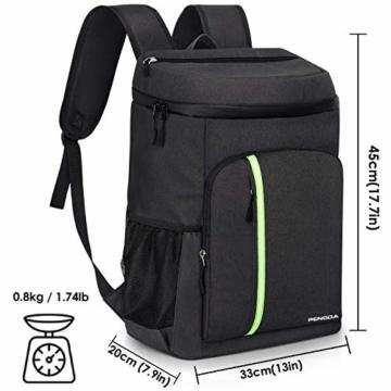 PengDa 30L Kühl Rucksack Kühltasche - Groß Isoliert Kühlrucksack Wasserdichten Ultraleicht Rucksäcke Damen Herren Cooler Bag für Camping, BBQ, Wandern, Picknick (Schwarz) - 7