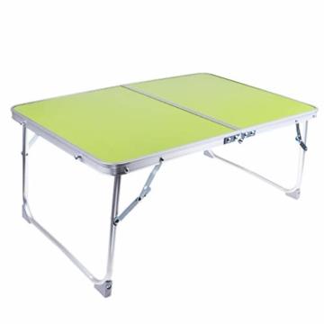 perfk Tragbarer Klapptisch Aluminium Reisetisch Falttisch Gartentisch - Grün - 1
