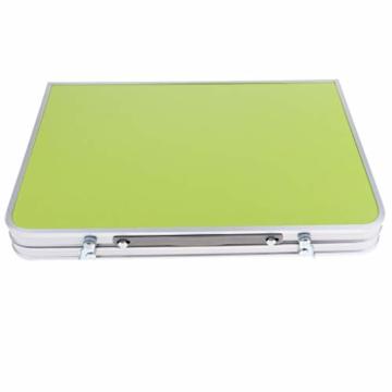perfk Tragbarer Klapptisch Aluminium Reisetisch Falttisch Gartentisch - Grün - 2