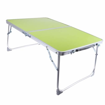 perfk Tragbarer Klapptisch Aluminium Reisetisch Falttisch Gartentisch - Grün - 3