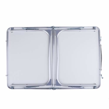 perfk Tragbarer Klapptisch Aluminium Reisetisch Falttisch Gartentisch - Grün - 5